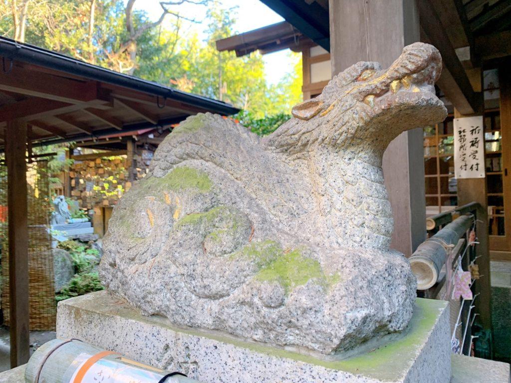 伏見神宝神社 狛龍 地龍